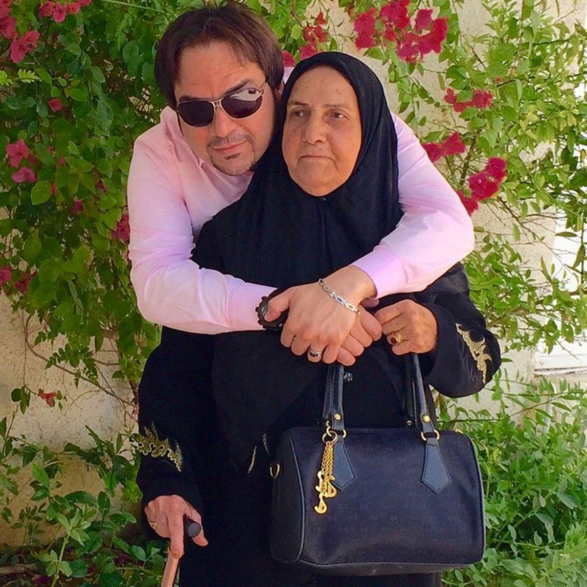 عاشقانه شهرام قائدی و مادرش +تصویر دو نفره
