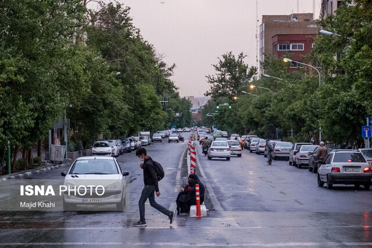 وقوع رگبار باران و رعدوبرق در پنج استان
