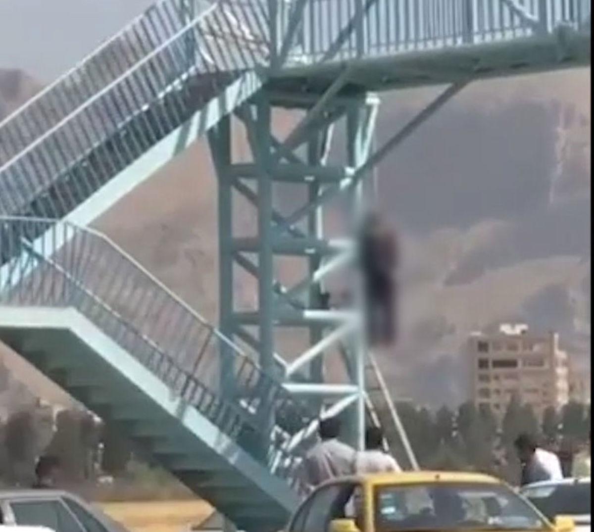 خودکشی پسر جوان از پل شهر را تعطیل کرد