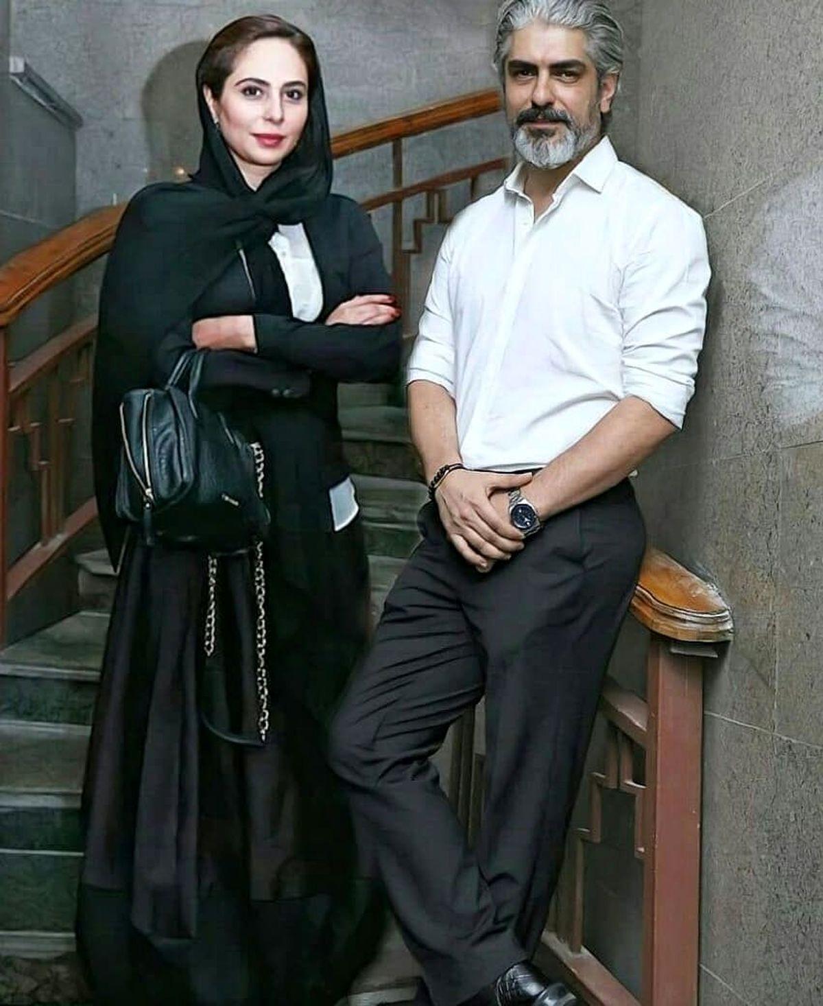 تصویری متفاوت از مهدی پاکدل و همسر جدیدش +عکس