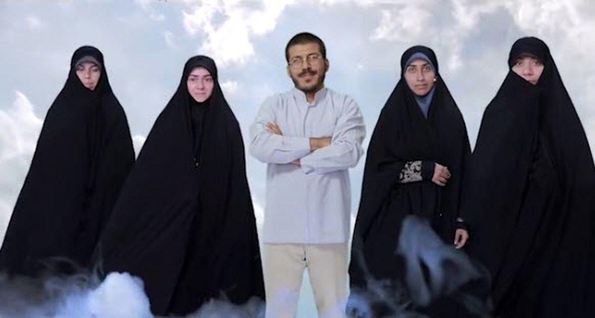 تبلیغ چند همسری با مرد 4 زنه در تلویزیون! +فیلم عجیب